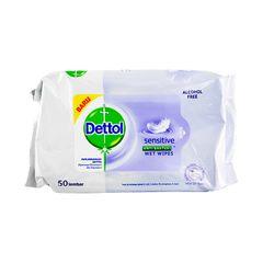 Dettol Sensitive Wet Wipes 50 Sheets