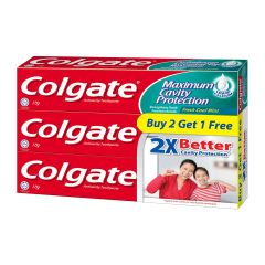 Colgate Anticavity Toothpaste Icy Cool Mint Triple Pack 3 x 175 g