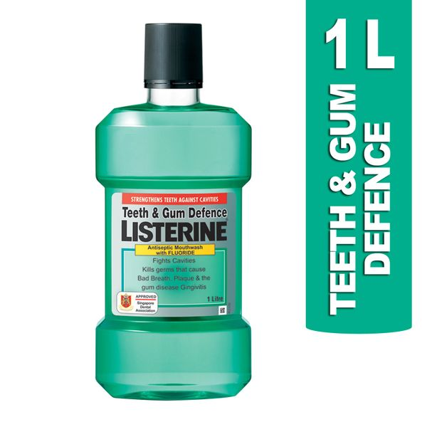 Listerine Teeth And Gum Defence Antiseptic Mouthwash With Fluoride 1 L