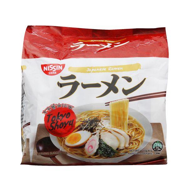Nissin Japanese Ramen Tokyo Shoyu Instant Noodles 5 x 116g
