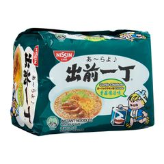 Nissin Chu Qian Yi Ding Garlic Chicken Instant Noodles With Soup Base 5 x 86g