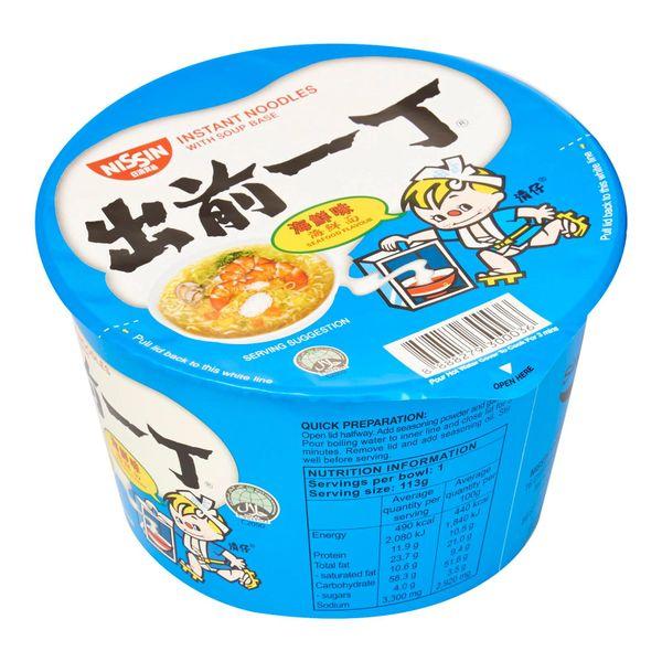 Nissin Chu Qian Yi Ding Seafood Bowl Noodles 112g