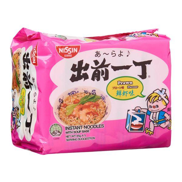 Nissin Chu Qian Yi Ding Prawn Instant Noodles 5 x 85g