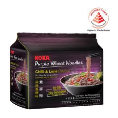 Koka Chilli And Lime Flavour Purple Wheat Noodles 5 x 60g