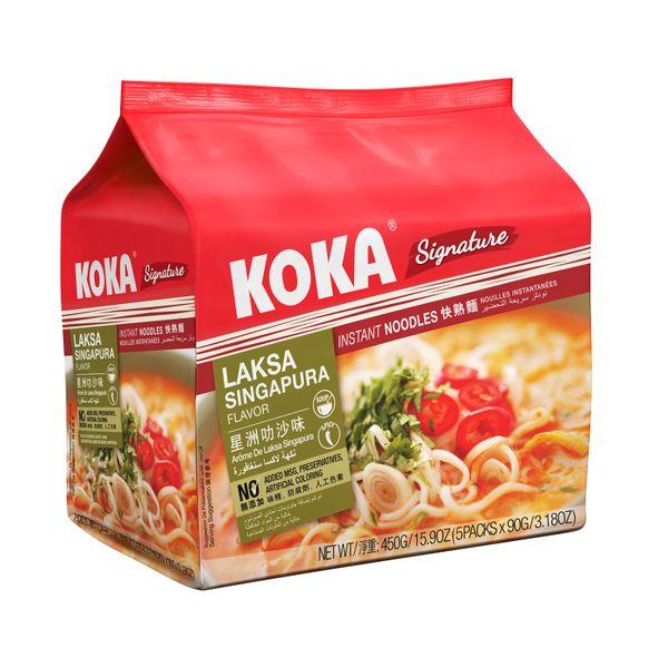 Koka Laksa Singapura Flavour Instant Noodles 5 x 90g