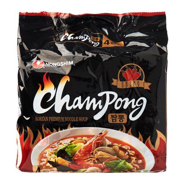 Nongshim Champong Spicy Cuttlefish Flavor Premium Instant Noodle Soup 4 x 134g