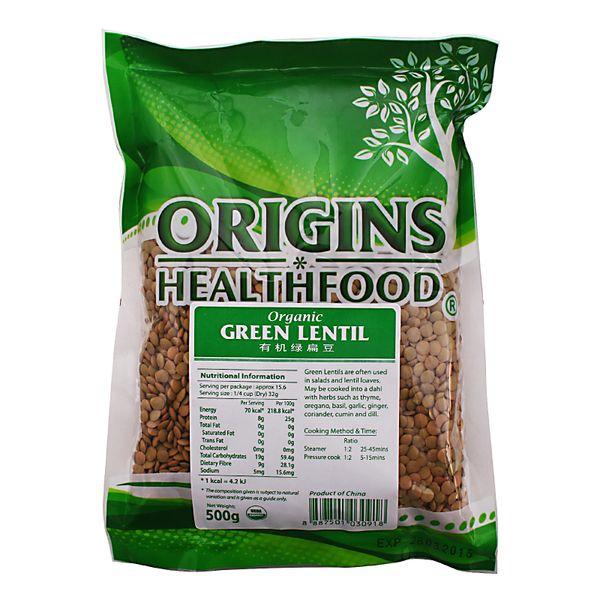 Origins Organic Green Lentils 500 g