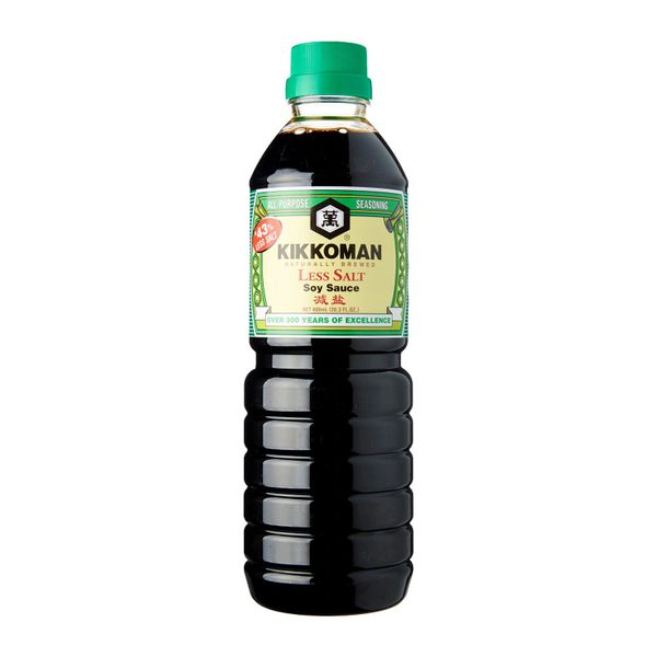 Kikkoman Less Salt Soy Sauce 600 ml