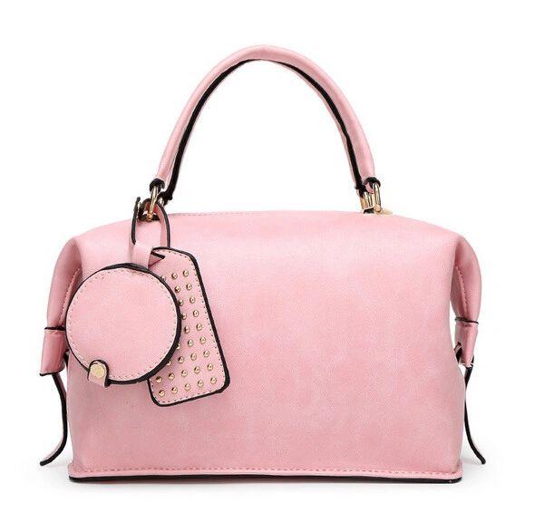 Fashion Rivet Decorated Zipper Ladies Handle Bag
