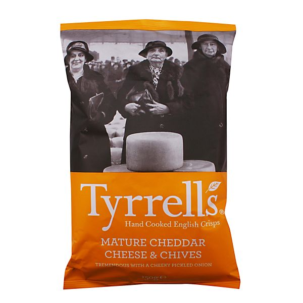 Tyrrell's Mature Cheddar And Chives Potato Chips 150 g
