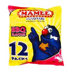 Mamee Monster BBQ Flavour Noodle Snack 12 x 25 g