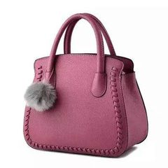 Solid Square Zipper Women Work Handle Bag
