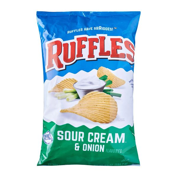 Ruffles Sour Cream And Onion Potato Chips 184.2 g