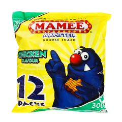 Mamee Monster Chicken Flavour Noodle Snack 12 x 25 g