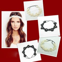 Chic Lace Flower Pearl Pretty Hair Band