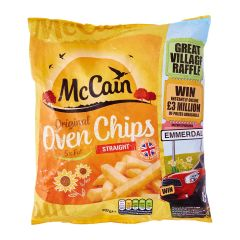 McCain 5% Fat Oven Straight Cut Chips - Frozen 907 g