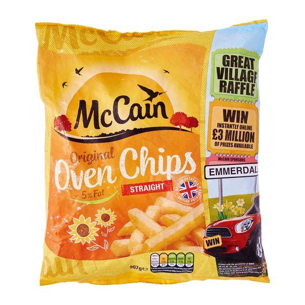 McCain 5% Fat Oven Straight Cut Chips - Frozen 907 g