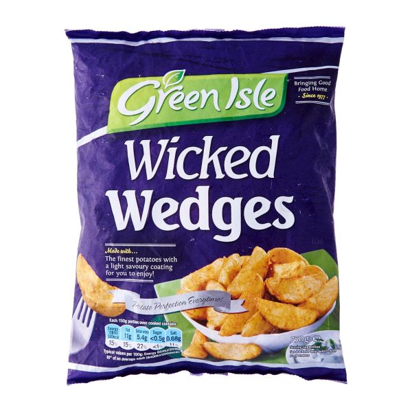 Green Isle Wicked Potato Wedges - Frozen 750 g