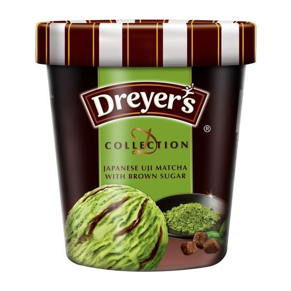 Dreyer's D-Collection Japanese Uji Matcha Green Tea With Brown Sugar Ice Cream 473 ml