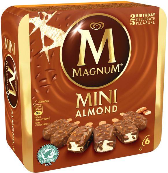 Magnum Mini Almond Multipack Ice Cream 6 x 60 ml