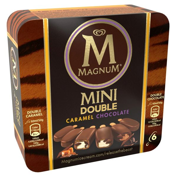 Magnum Mini Double Caramel And Double Chocolate Ice Cream 60 ml
