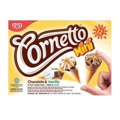 Cornetto Mini Chocolate And Vanilla Ice Cream 12 x 28 ml