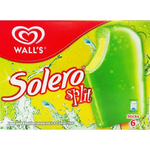 Solero Split Lime Multipack Ice Cream (6 Sticks) 6 x 64 ml