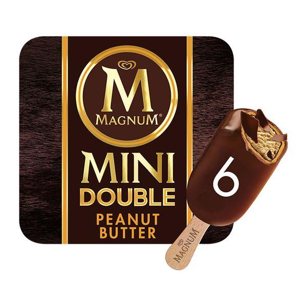 Magnum Mini Double Peanut Butter Multipack Ice Cream 6 x 60 ml