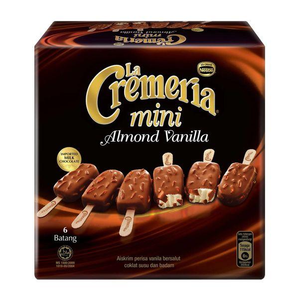 Nestle LA CREMERIA Mini Almond Vanilla Multipack Ice Cream 6 x 45 ml