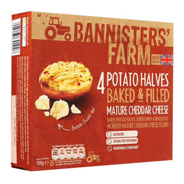 Bannisters' Farm Baked And Filled Mature Cheddar Cheese Potato 500g