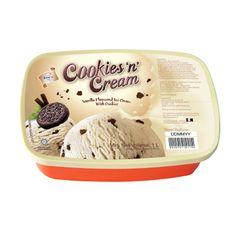 King's Cookies 'N' Cream Vanilla Flavoured Ice Cream With Cookies 1 L
