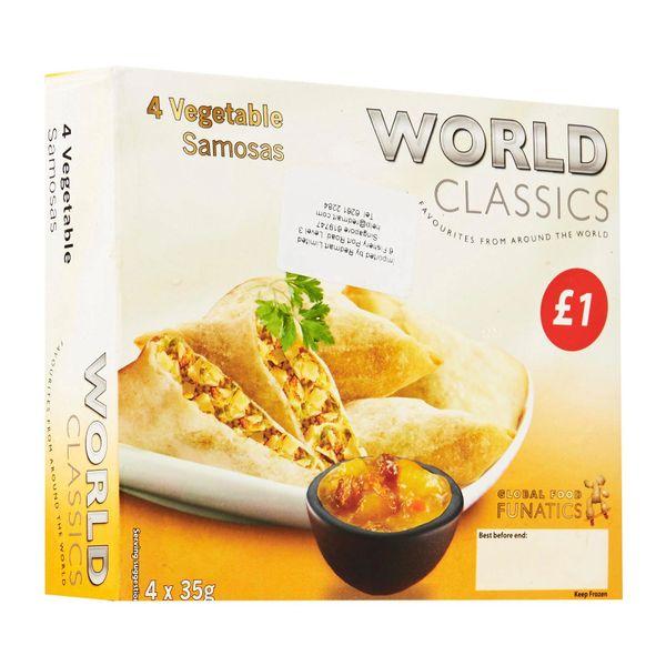 Global Food Funatics World Classics 4 Vegetable Samosas 140g