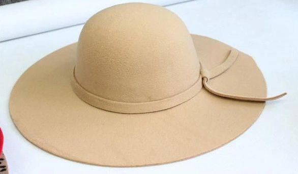 Wide-brimmed Celebrity Hat