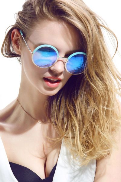 Chic Round Frame Proof UV Retro Sunglasses