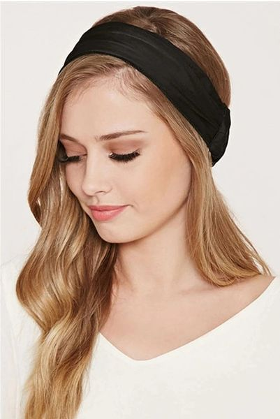 Trendy Solid All Match Elastic Casual Hairband
