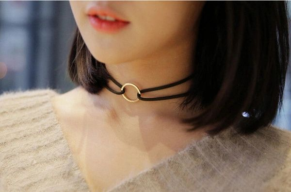 Japan Vintage Metal Round Ring Necklace