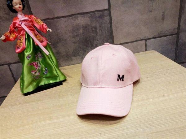 M Letter Pattern Casual Cap