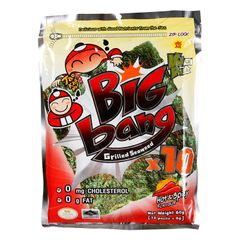 Tao Kae Noi Big Bang Hot And Spicy Flavour Grilled Seaweed 10 x 6 g