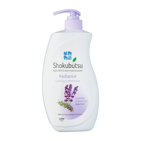 Shokubutsu Radiance Body Foam - Calming And Whitening 900 ml