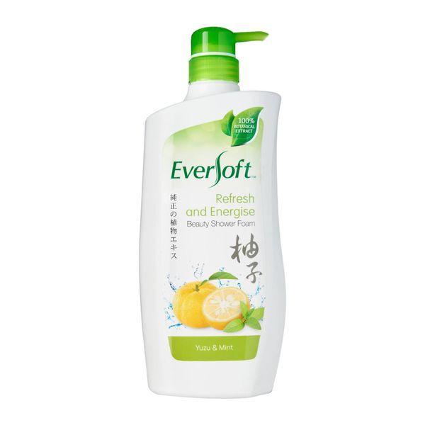 Eversoft Shower Foam Yuzu And Mint 800ml