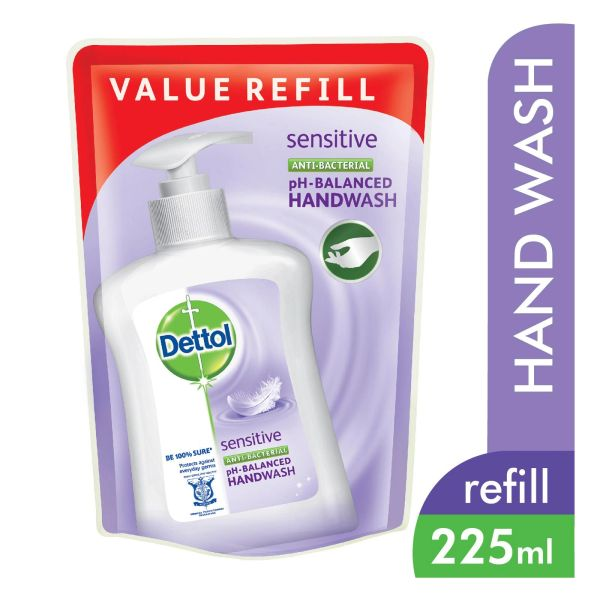 Dettol Sensitive Anti-Bacterial Hand Wash Refill Pouch 225 ml