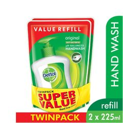 Dettol Original Anti-Bacterial Hand Wash Refill Twinpack 2 x 225 ml
