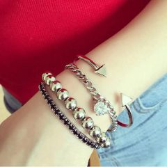Personality Alloy Women Four Set Bracelets