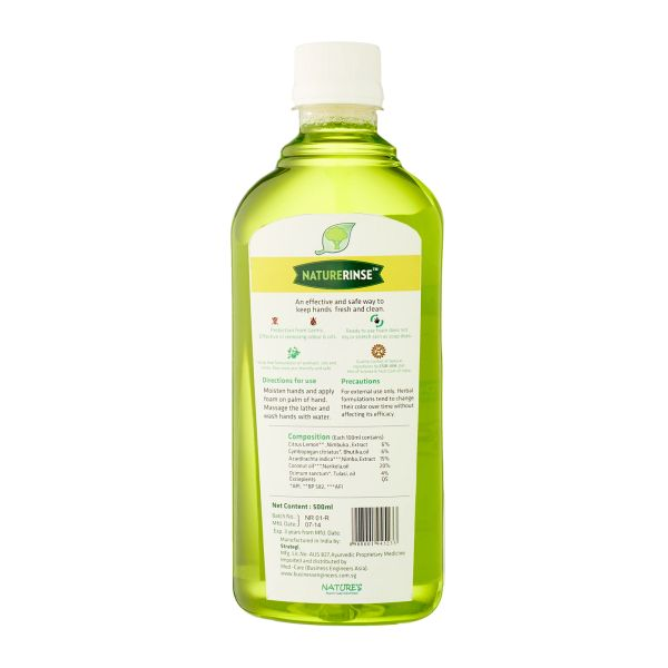 Nature's Herbal Foam Hand Wash Refill 500ml