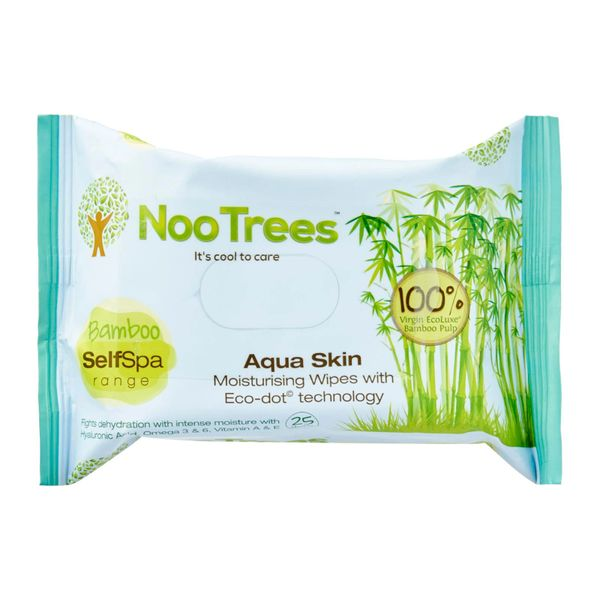 Nootrees Aqua Skin Eco-Dot Cleansing And Moisturizing Wipes 25 per pack