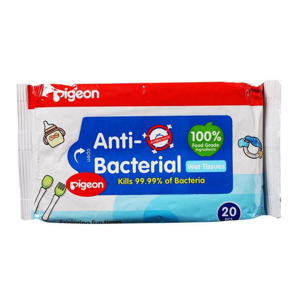 Pigeon Anti-Bacterial Wet Tissues 20 per pack