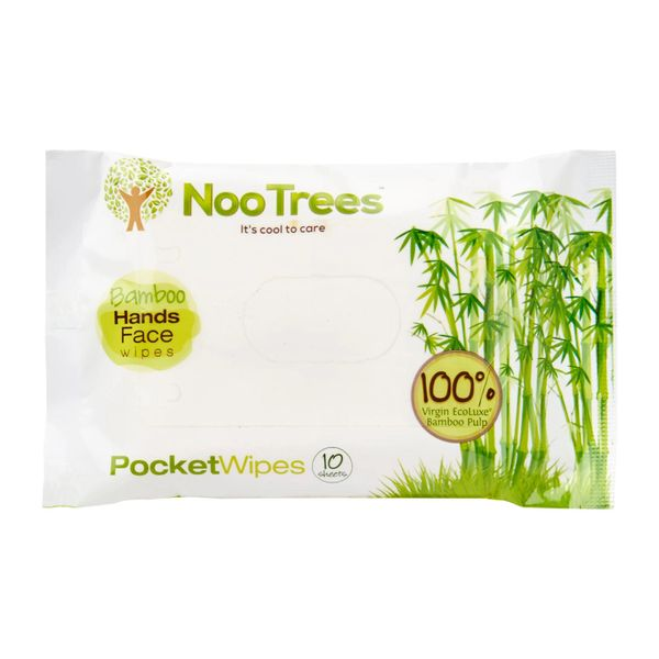 Nootrees Bamboo Pocket Pack Wet Wipes 10 per pack
