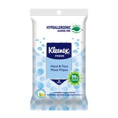Kleenex Fresh Hand And Face Moist Wipes 3 x 10 per pack