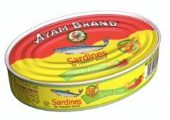 Ayam Sardines S/Lime Ovals 215g