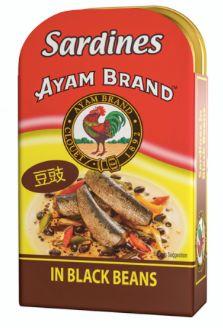 Ayam Sardines Black Beans 120g